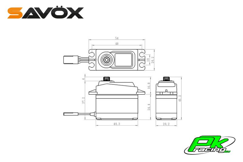 Savox - SA-1256TG - Digital Servo - Coreless Motor - Titanium Gear
