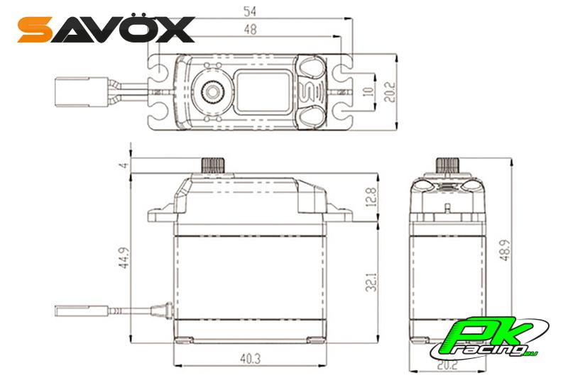 Savox - SB-2230SG - Digital Servo - High Voltage - Brushless Motor - Steel Gears
