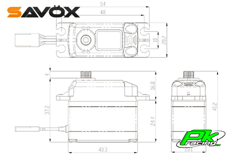 Savox - SB-2250SG - Digital Servo - Brushless Motor - Steel Gears
