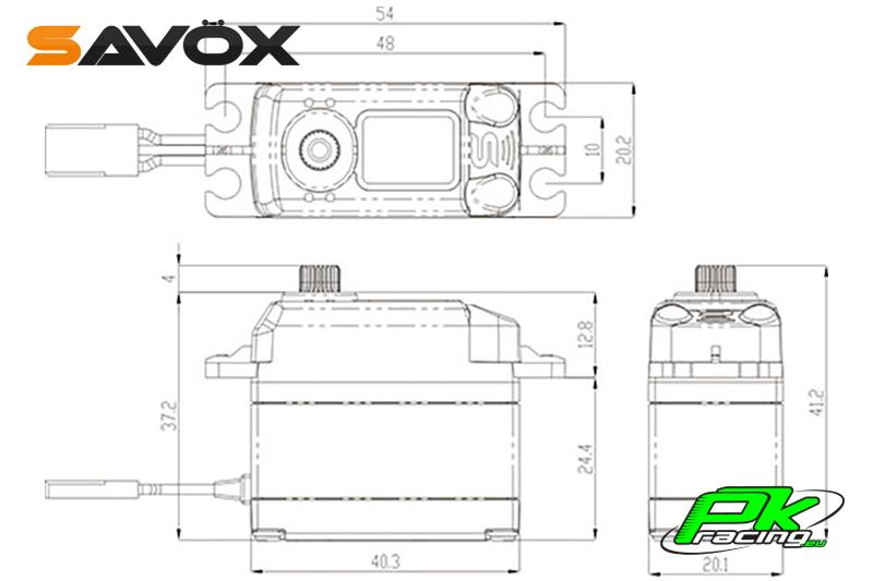Savox - SB-2251SG - Digital Servo - Brushless Motor - Steel Gears
