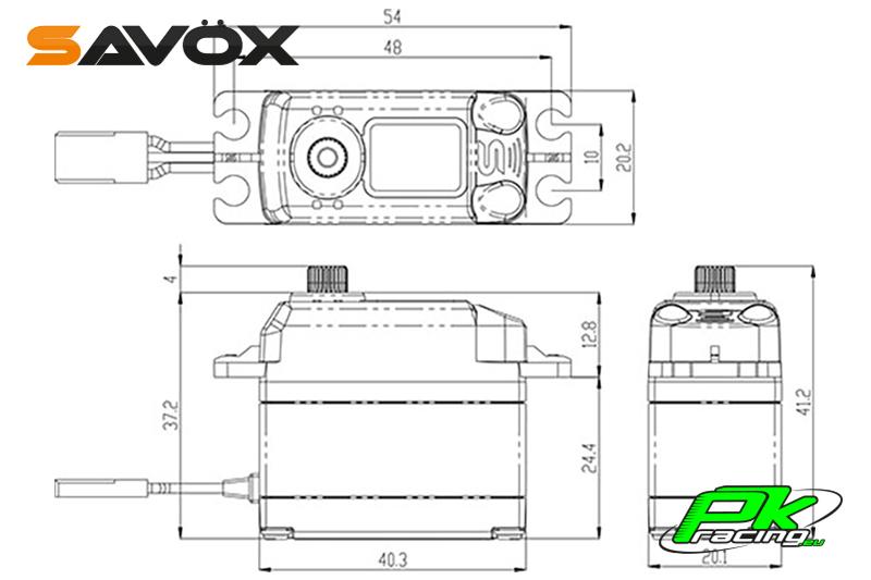 Savox - SB-2252MG - Digital Servo - Brushless Motor - Metal Gears
