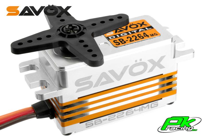 Savox - SB-2264MG - Digital Servo - High Voltage - Brushless Motor - Metal Gears