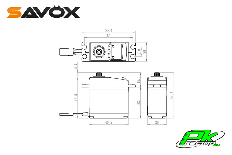 Savox - SC-0251MG - Digital Servo - DC Motor - Metal Gear
