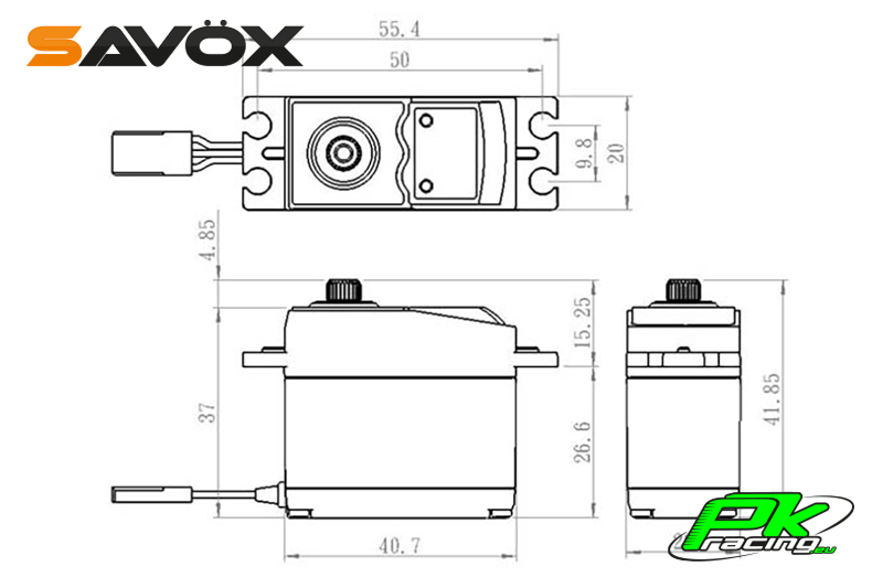 Savox - SC-0253MG - Digital Servo - DC Motor - Metal Gear