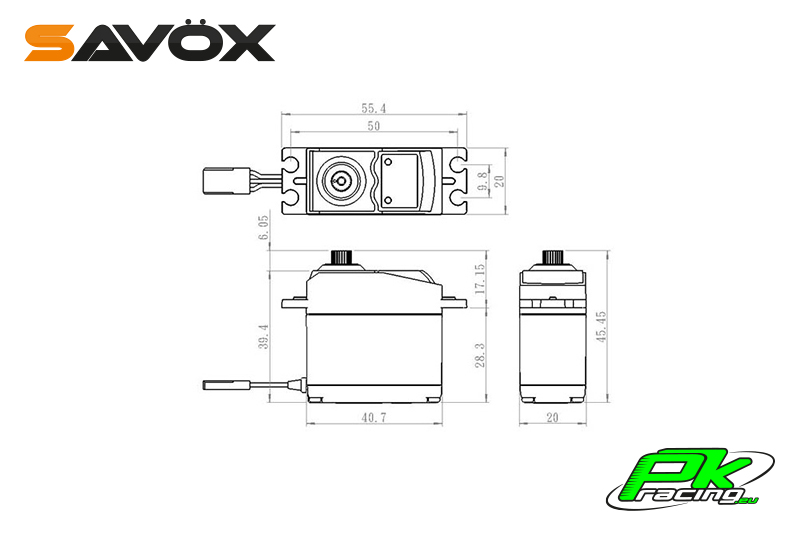 Savox - SC-0352 - Digital Servo - DC Motor