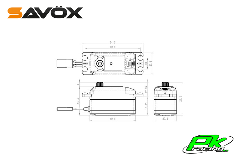 Savox - SC-1251MG - Digital Servo - Coreless Motor - Metal Gear