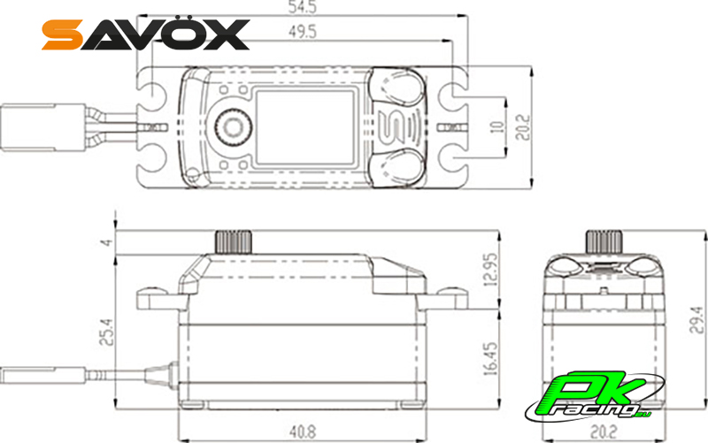 Savox - SC-1252MG - Digital Servo - Coreless Motor - Metal Gear