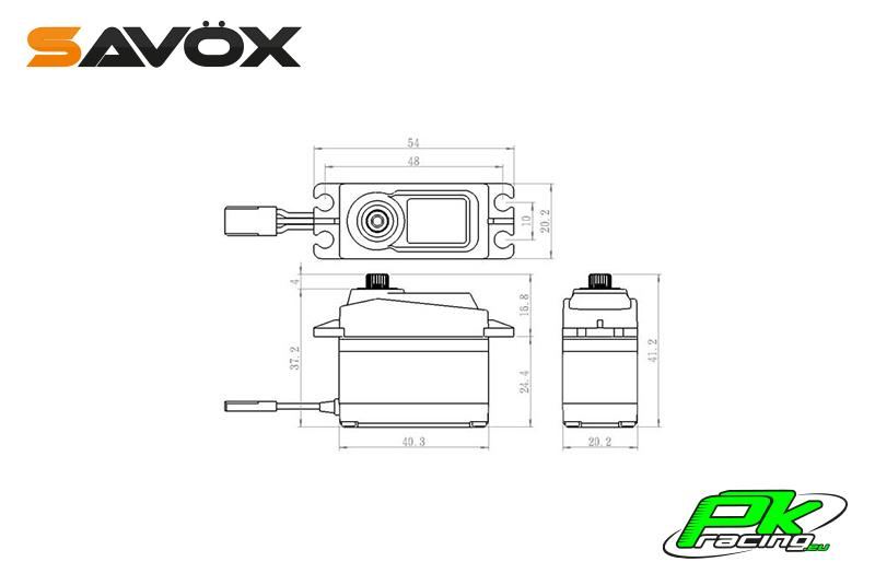 Savox - SC-1256TG - Digital Servo - Coreless Motor - Titanium Gear