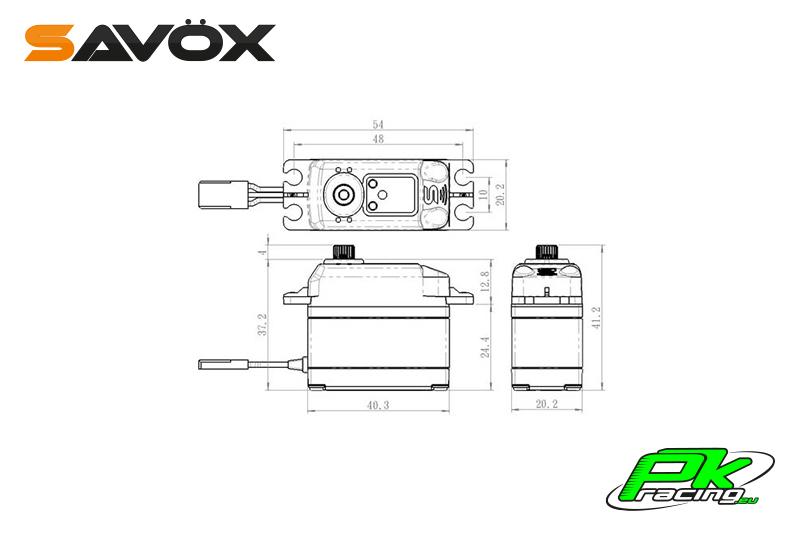Savox - SC-1267SG - Digital Servo - High Voltage - Coreless Motor