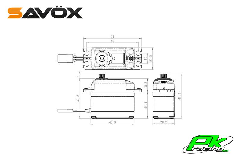 Savox - SC-1268SG - Digital Servo - High Voltage - Coreless Motor