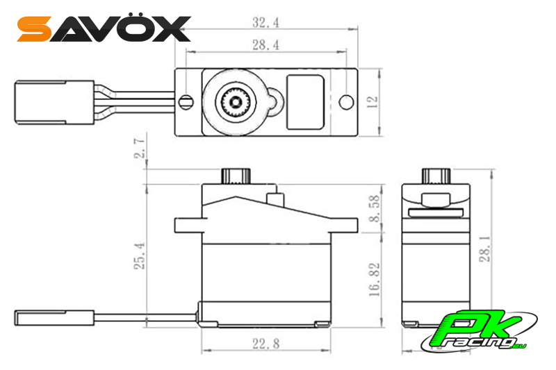 Savox - SH-0253 - Digital Servo - DC Motor