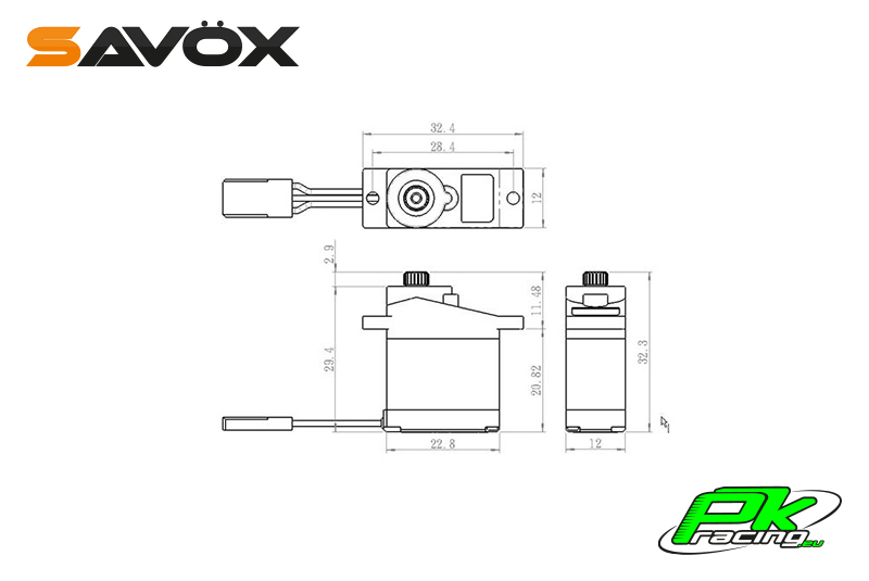 Savox - SH-0255MG - Digital Servo - DC Motor - Metal Gear
