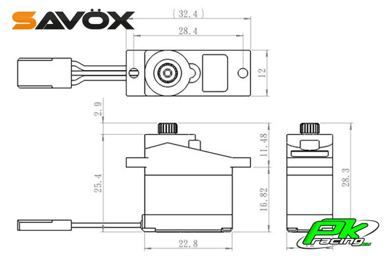 Savox - SH-0261MG - Digital Servo - DC Motor - Metal Gear
