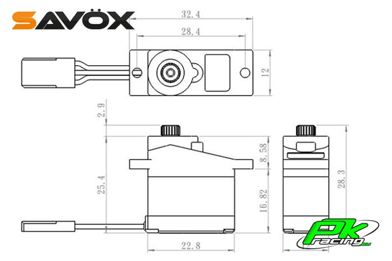 Savox - SH-0262MG - Digital Servo - DC Motor - Metal Gear