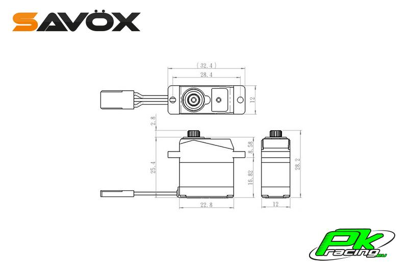 Savox - SH-0263MG - Digital Servo - DC Motor - Metal Gear