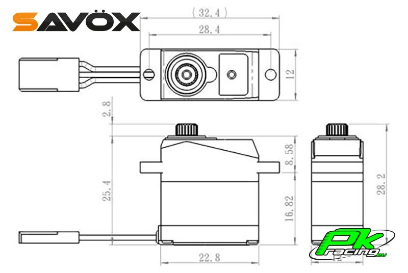 Savox - SH-0264MG - Digital Servo - DC Motor - Metal Gear