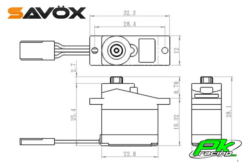 Savox - SH-0350 - Digital Servo - DC Motor
