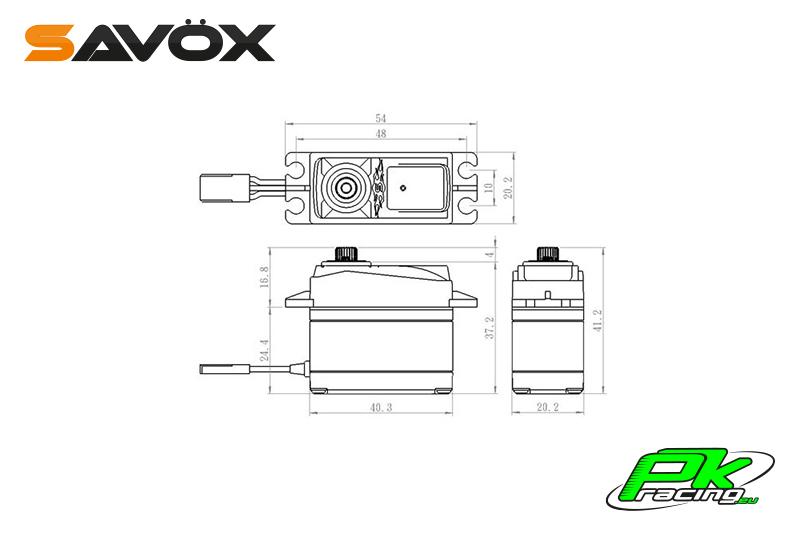 Savox - SH-1290MG - Digital Servo - Coreless Motor - Metal Gear