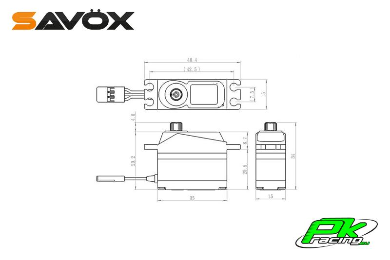 Savox - SH-1350 - Digital Servo - Coreless Motor