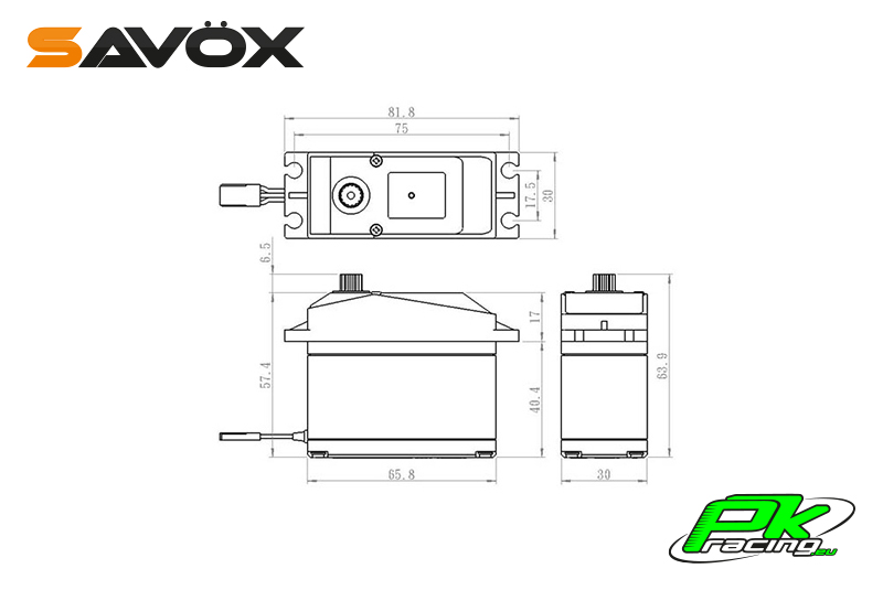 Savox - SV-0236MG - Digital Servo - High Voltage - DC Motor - Metal Gear