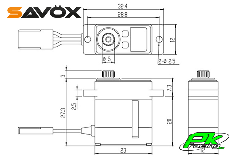 Savox - SV-1232MG - Digital Servo - High Voltage - Coreless Motor - Metal Gear