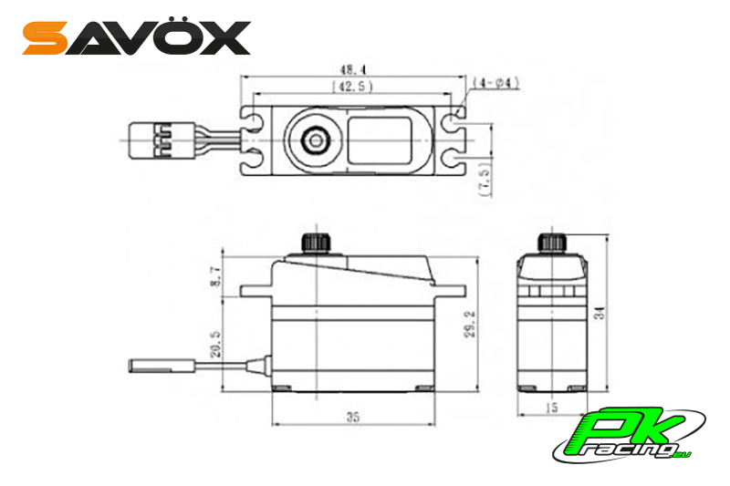Savox - SV-1250MG - Digital Servo - High Voltage - Coreless Motor - Metal Gear
