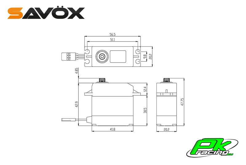 Savox - SW-0231MG - Digital Servo - DC Motor - Waterproof - Metal Gear