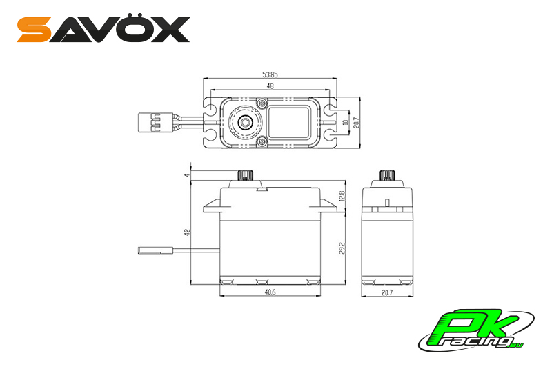 Savox - SW-1210SG - Digital Servo - Coreless Motor - Waterproof - Steel Gear
