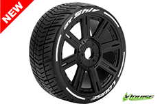 Louise RC - L-T3284SB - GT-SHIV - MFT Technology - 1-8 Buggy Tire Set - Mounted - Soft  - Black Spoke Rims - Hex 17mm - 1 Pair