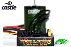 Castle - CC-010-0115-08 - SV-3 Sidewinder Waterproof - Combo - 1-10 Sport Car Controller with 1406-7700 Sensorless Motor