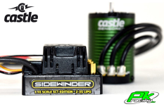 Castle - CC-010-0123-02 - Sidewinder SCT - Waterproof - Combo - 1-10 Sport Car Controller with 1410-3800KV Sensored motor