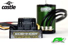 Castle - CC-010-0123-03 - Sidewinder SCT - Waterproof - Combo - 1-10 Sport Car Controller with 1410-3800KV 5mm Sensored motor