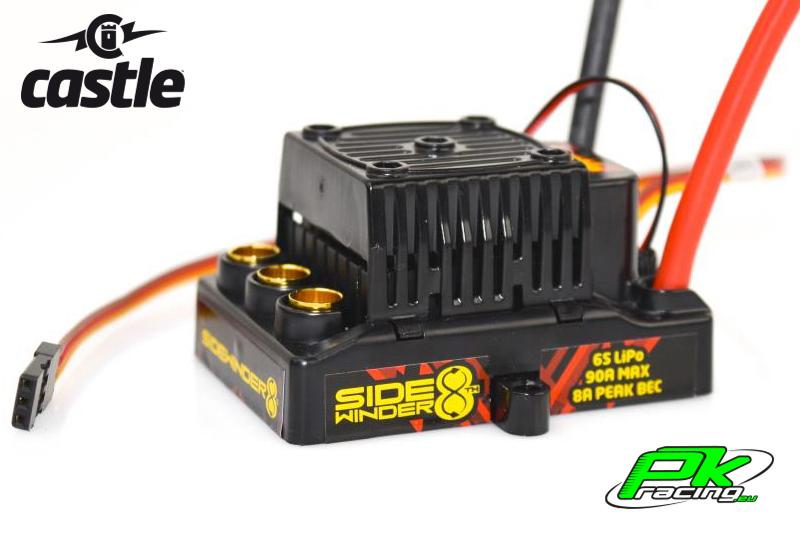 Castle - CC-010-0139-10 - Sidewinder 8 - 1-8 Sport Car Controller - Waterproof - 2-6S - 8A Bec - Sensorless only