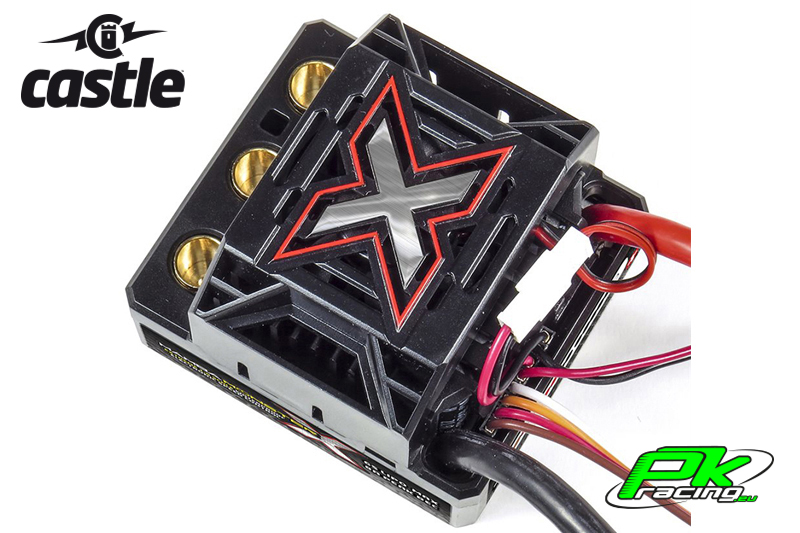 Castle - CC-010-0145-00 - Mamba Monster X - 1-8 Extreme Car Controller - Waterproof - Datalogging - Telemetry Capable - 2-6S - High Power SBec - Sensored-Sensorless Motors