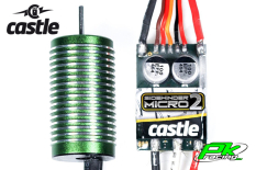 Castle - CC-010-0150-01 - Sidewinder 18th - Combo - 1-18 Extreme Car Controller with 0808-4100 Sensorless Motor