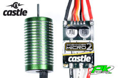 Castle - CC-010-0150-02 - Sidewinder 18th - Combo - 1-18 Extreme Car Controller with 0808-5300 Sensorless Motor