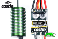 Castle - CC-010-0150-03 - Sidewinder 18th - Combo - 1-18 Extreme Car Controller with 0808-8200 Sensorless Motor