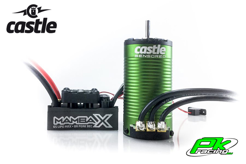Castle - CC-010-0160-00 - Mamba X SCT - Combo - 1-10 Extreme SCT Controller with 1415-2400 Sensored Motor