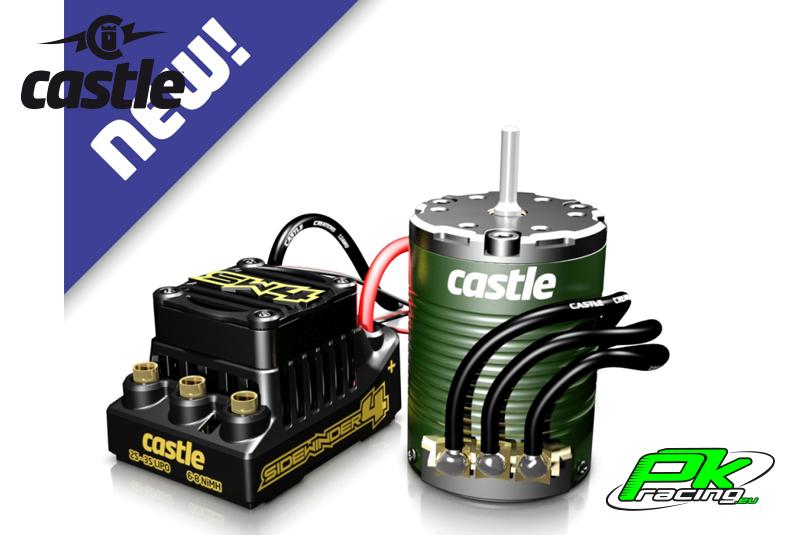 Castle - CC-010-0164-05 - Sidewinder SW4 - Waterproof - Combo - 1-10 Sport Car Controller with 1410-3800 Sensored motor