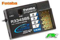Futaba - R334SBS - Receiver - Telemetry - 2.4GHz - 4-Channel - T-FHSS SR