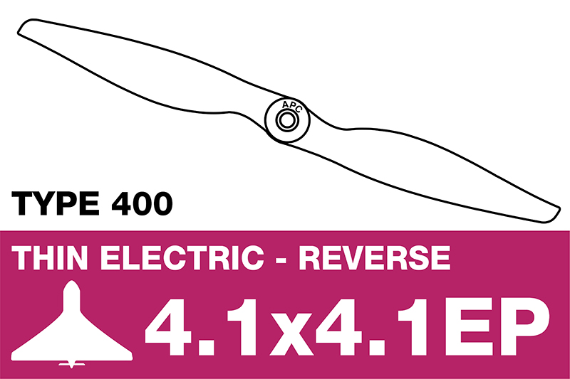 APC - Electro Propeller - Class 400 - Pusher / CCW - 4.1X4.1EP