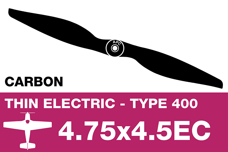 APC - Electro Propeller - Class 400 - Carbon - 4.75X4.5EC
