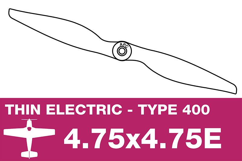 APC - Electro Propeller - Class 400 - 4.75X4.75E