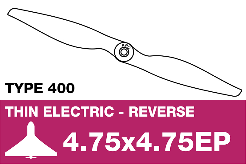 APC - Electro Propeller - Class 400 - Pusher / CCW - 4.75X4.75EP