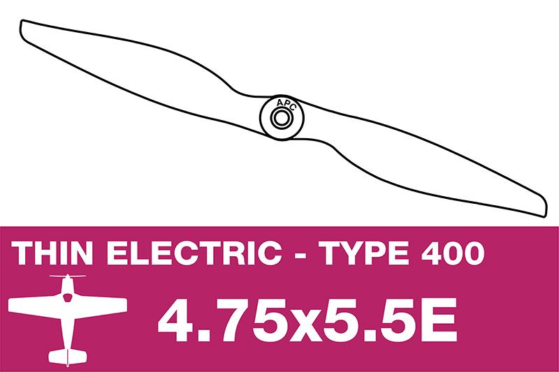 APC - Electro Propeller - Class 400 - 4.75X5.5E