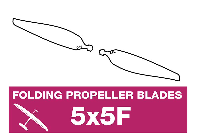 APC - Folding Electric Propeller Blades - 5X5F