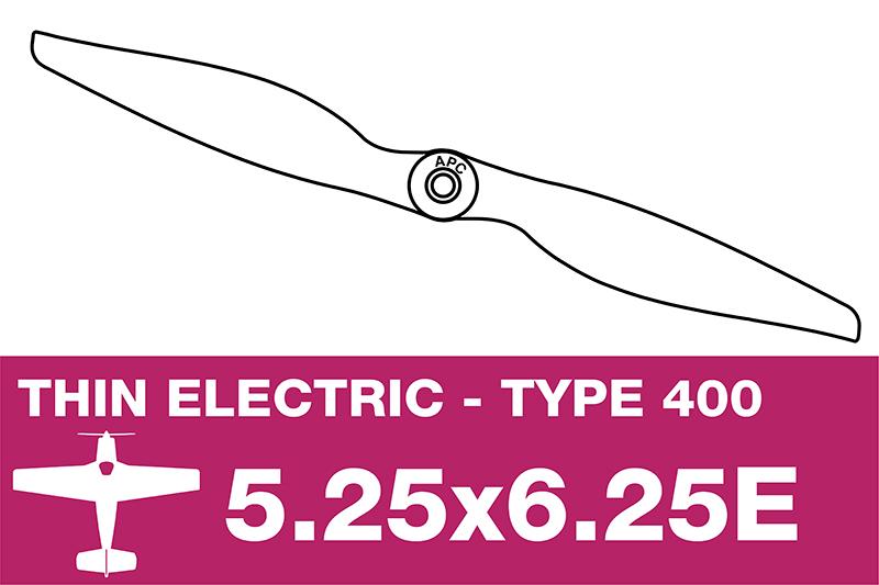 APC - Electro Propeller - Class 400 - 5.25X6.25E