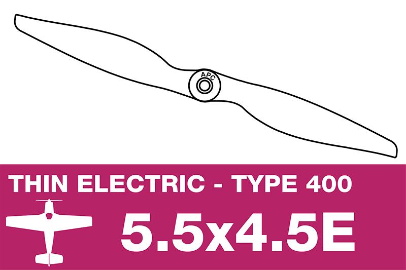 APC - Electro Propeller - Class 400 - 5.5X4.5E