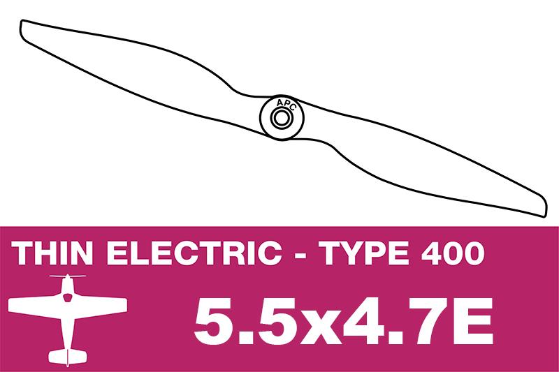 APC - Electro Propeller - Class 400 - 5.5X4.7E