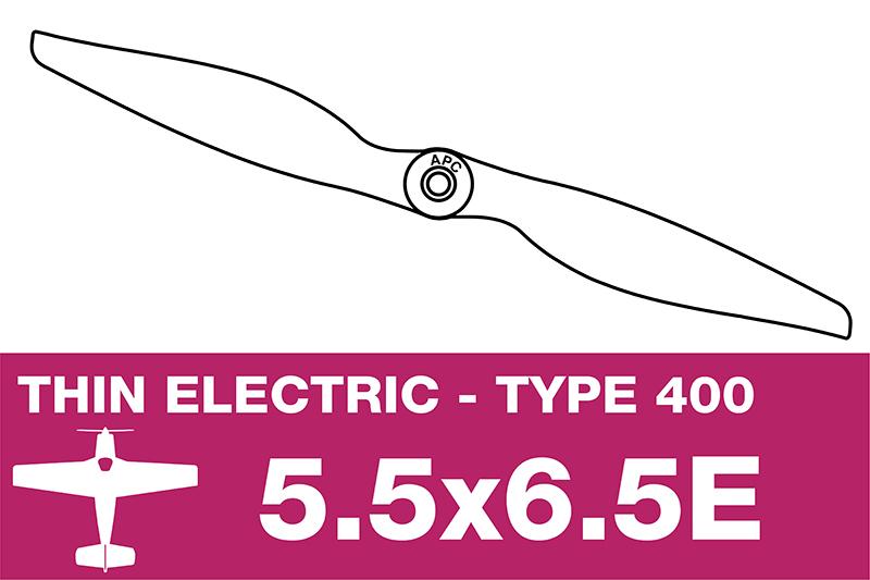 APC - Electro Propeller - Class 400 - 5.5X6.5E